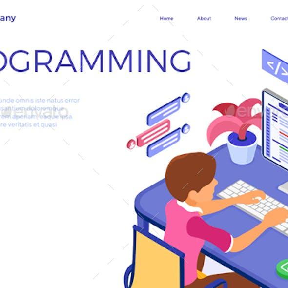Programmer Developing Online Chat Website