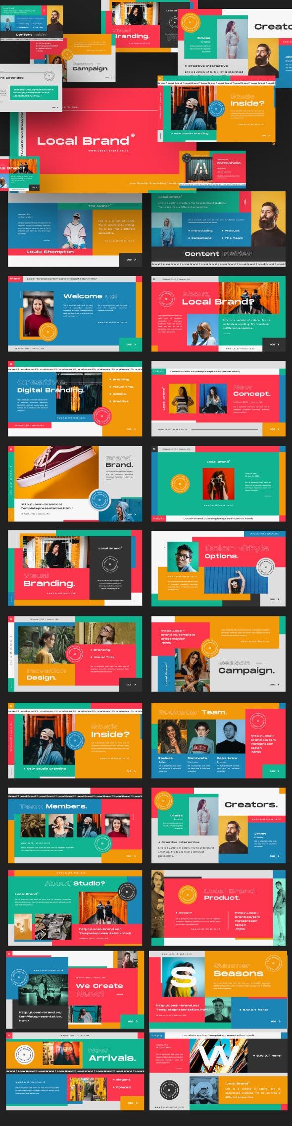 Local Brand Creative Google Slide - Google Slides Presentation Templates