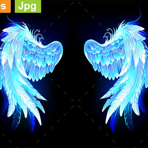 Glowing Folded Wings