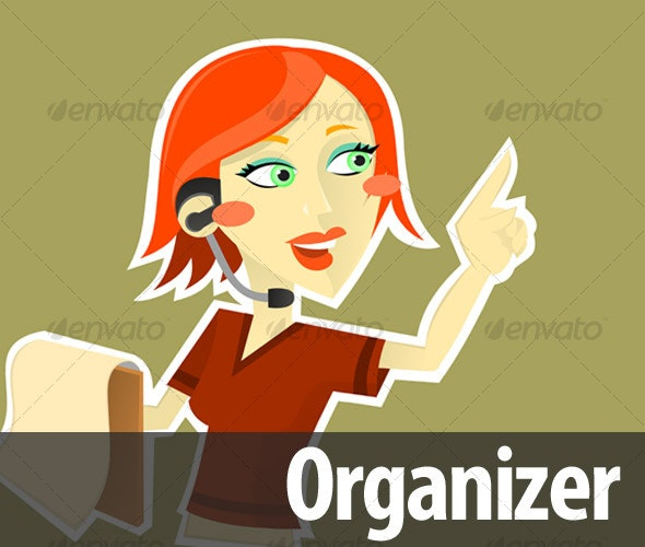 Trendy Organizer - People Characters