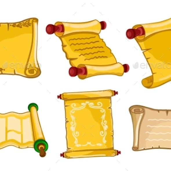 Antique Parchments Old Paper Rolls