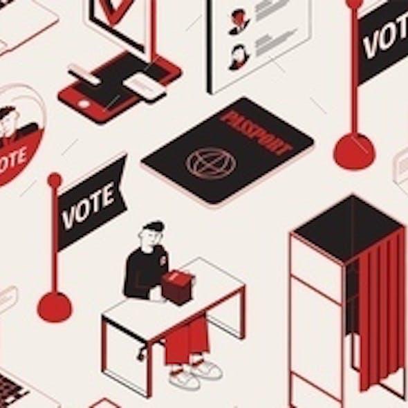 Election Isometric Site Header