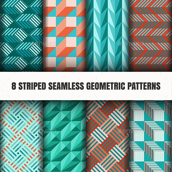8 Striped Seamless Geometric Pattern