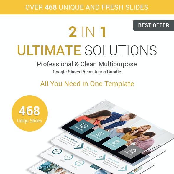 Ultimate Business Solutions - 2 In 1 Google Slides Presentation Template Bundle