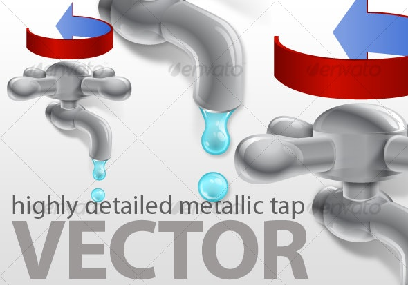 Tap vector - Man-made Objects Objects