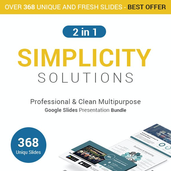 Simplicity Business Solutions - 2 In 1 Google Slides Presentation Template Bundle