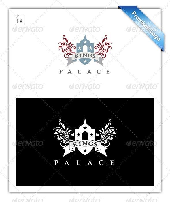 King Crest Heraldic Ribbon Logo - Crests Logo Templates
