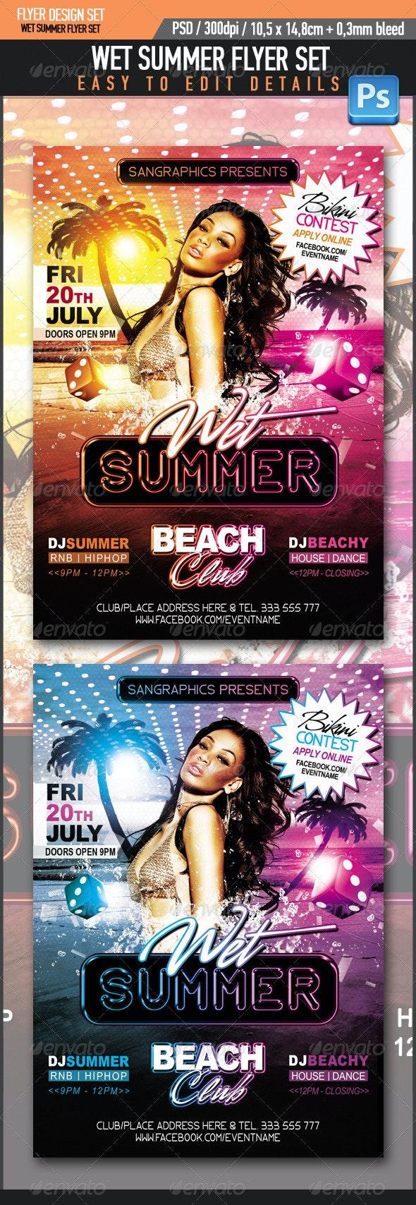 Wet Summer - Clubs & Parties Events