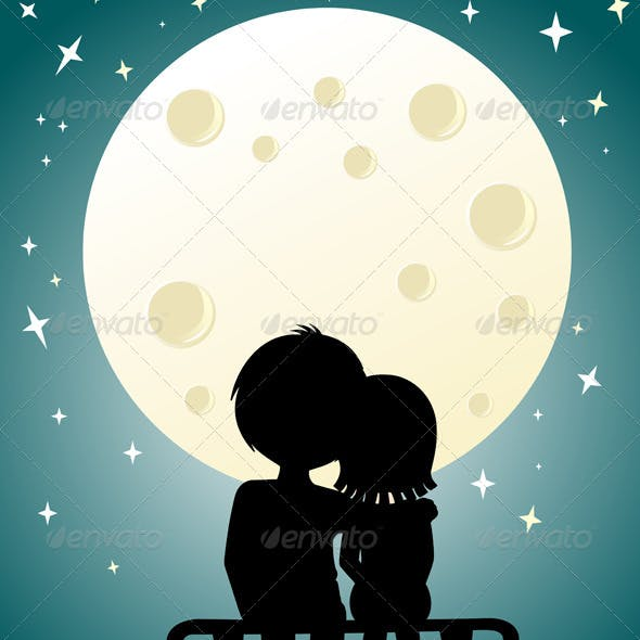 Couple under the moonlight