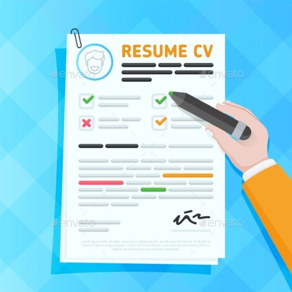 CV Resume Template Design Vector Illustration