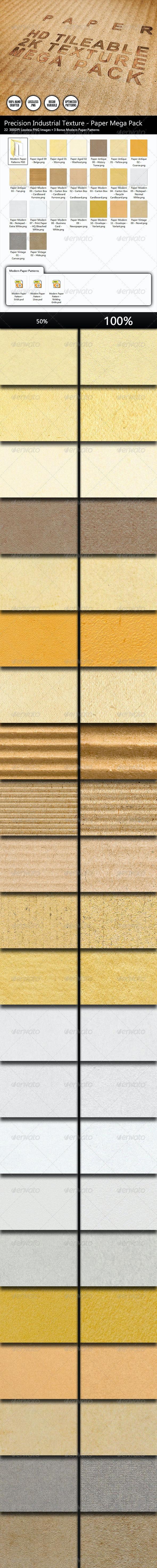 22 Clean 2K HD Tileable Paper Textures Mega Pack - Paper Textures