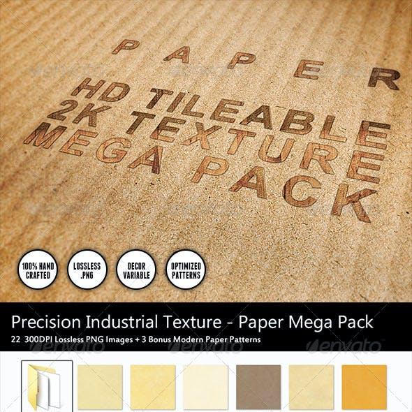 22 Clean 2K HD Tileable Paper Textures Mega Pack
