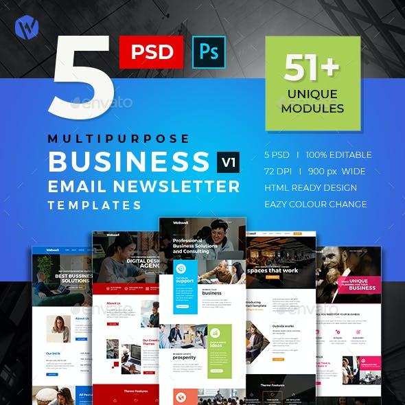 5 Business E-Newsletter PSD Templates