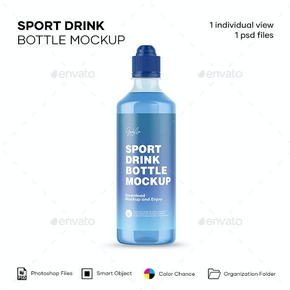 Sport Drink Bottle Mockup