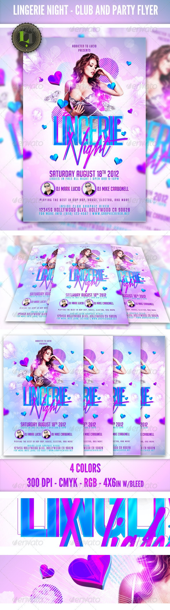 Ladies Night Party - Club Flyer Template - Clubs & Parties Events
