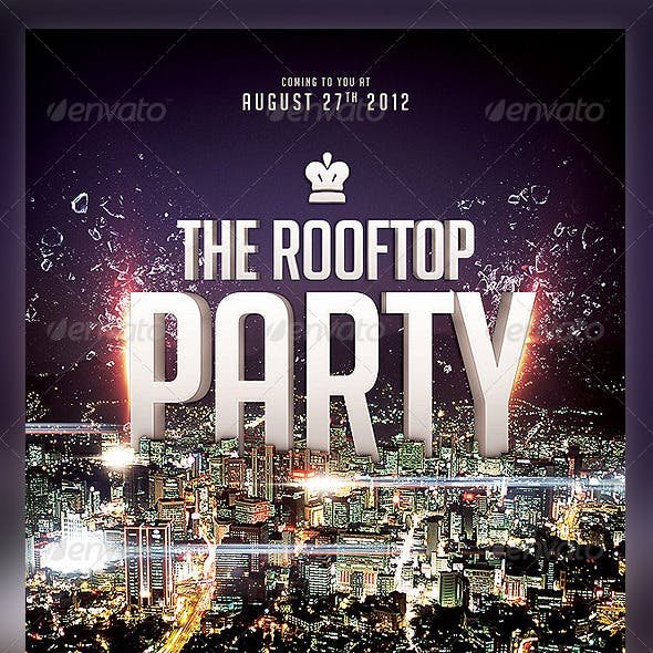 Roof Top Party flyer