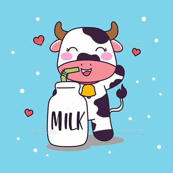 Cow Drink Milk