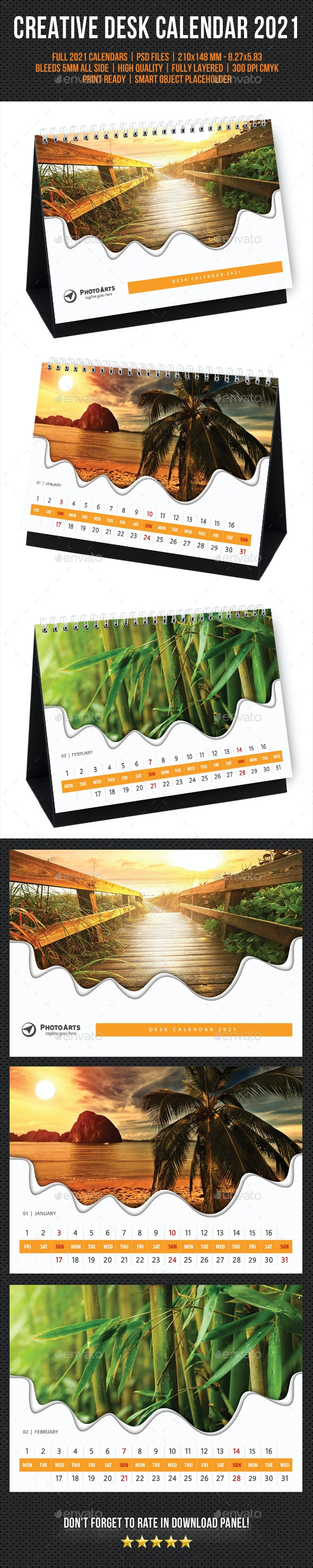 Creative Desk Calendar 2021 V34 - Calendars Stationery