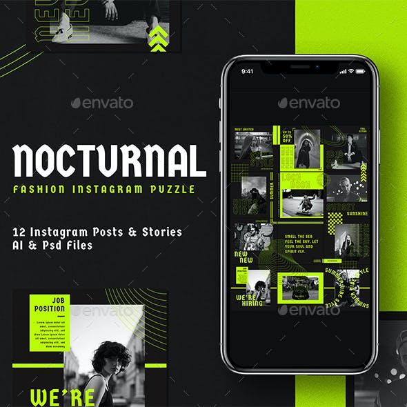 Nocturnal Fashion Insta Puzzle