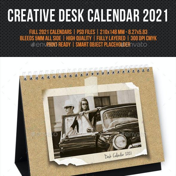 Creative Desk Calendar 2021 V31