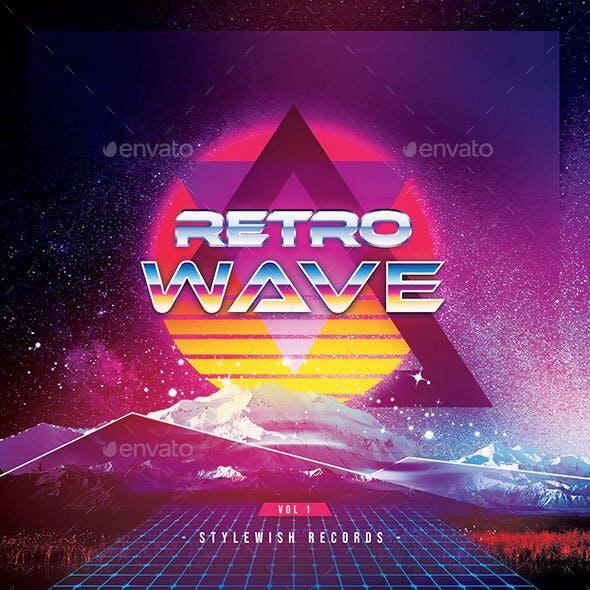 Retro Wave CD Cover Artwork
