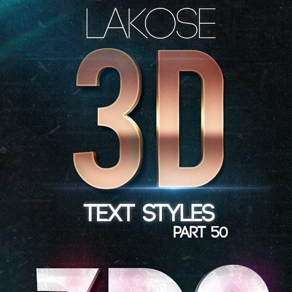 Lakose 3D Text Styles Part 50