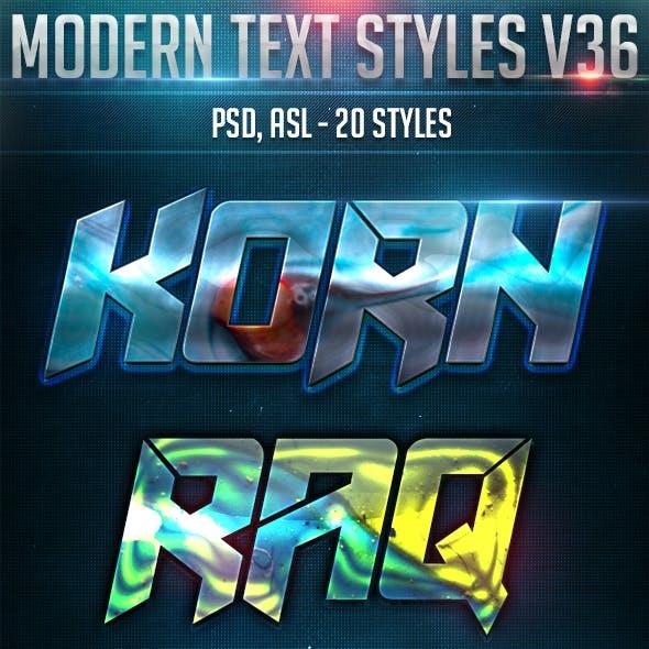 Modern Text Styles V36