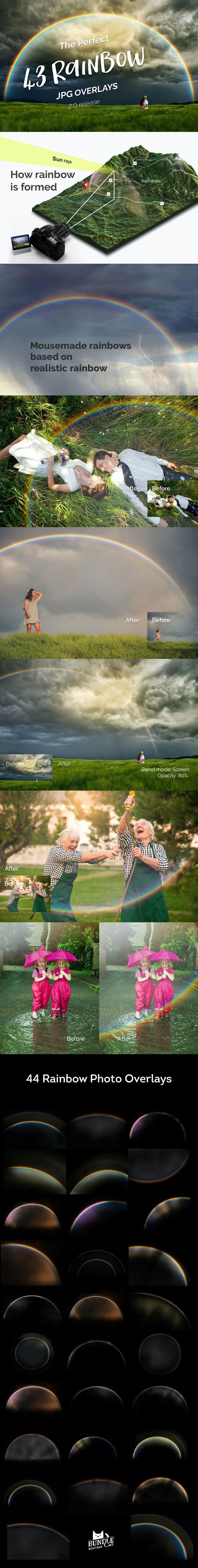 43 Rainbow Photo Overlays 2.0 - Photo Effects Actions