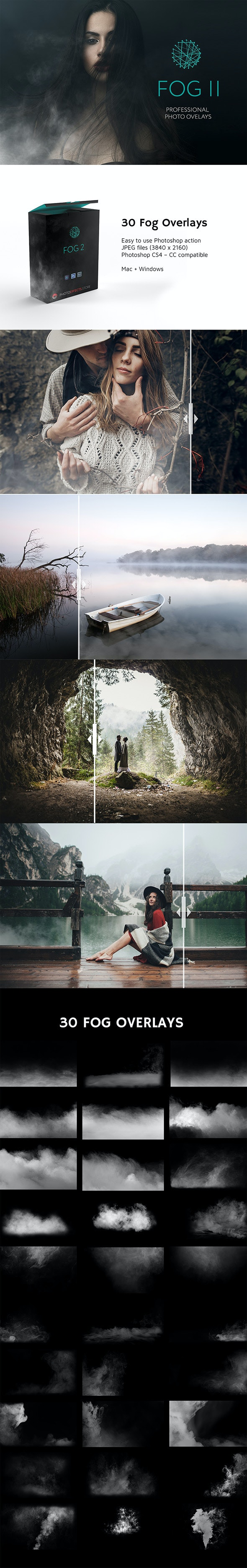 30 Fog Photo Overlays 2.0 - Photo Effects Actions