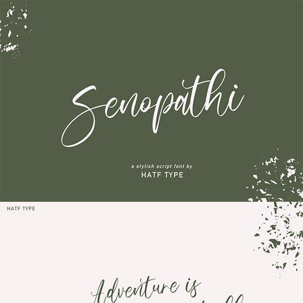 Senopathi Stylish Font