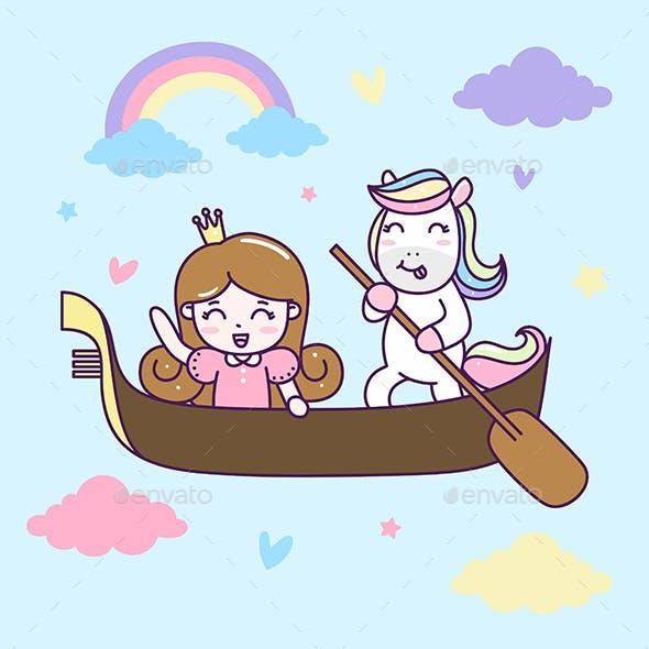 Princess and Unicorn ride Gondola