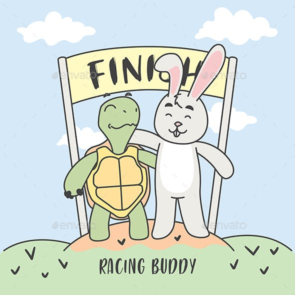 Rabbit and Turtle Finish Together