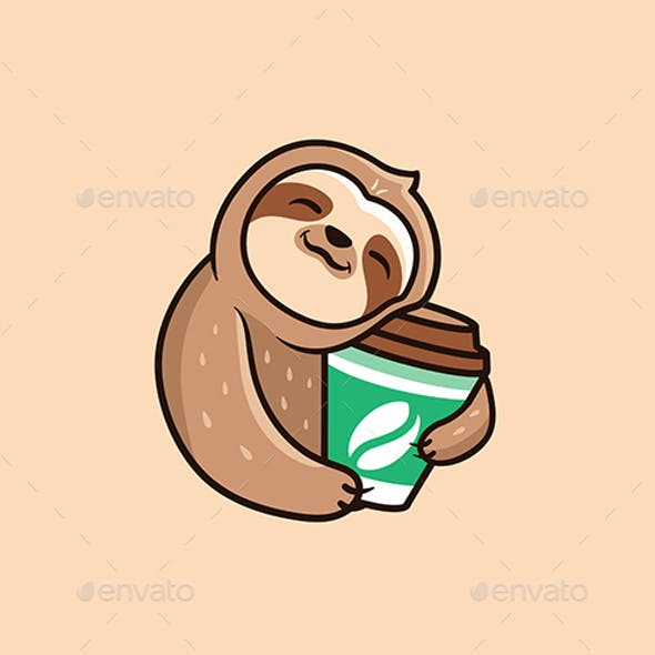 Sloth with Coffee