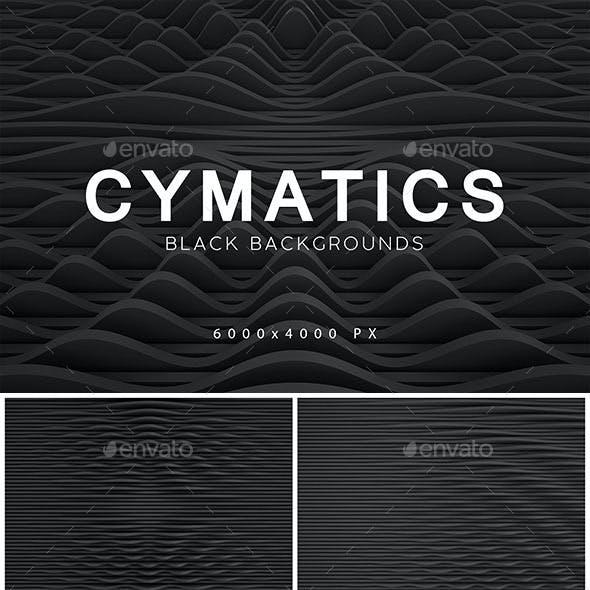Cymatics Black Backgrounds