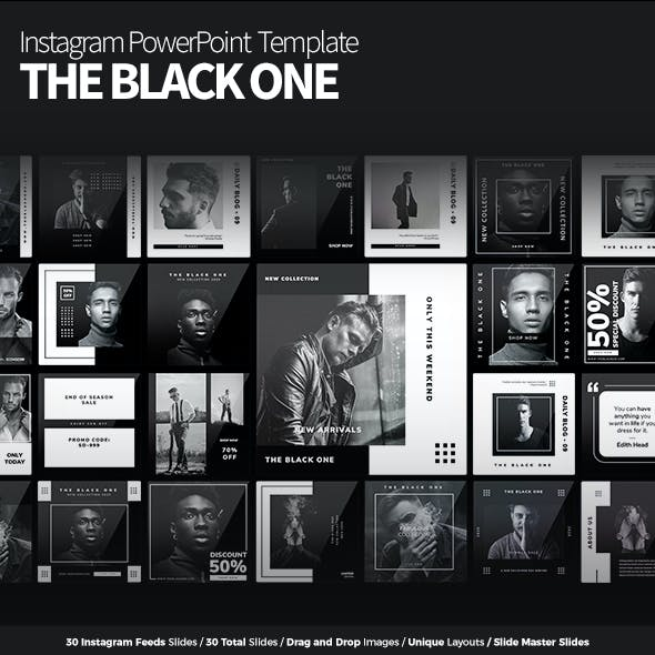 THE BLACK ONE - Instagram PowerPoint Template