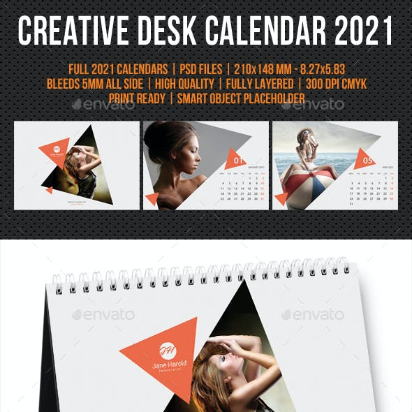 Creative Desk Calendar 2021 V27