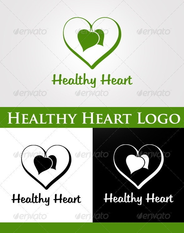 Healthy Heart Logo - Nature Logo Templates