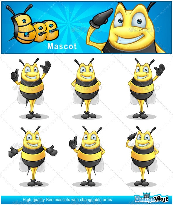 Bee Mascot - Illustrations Graphics