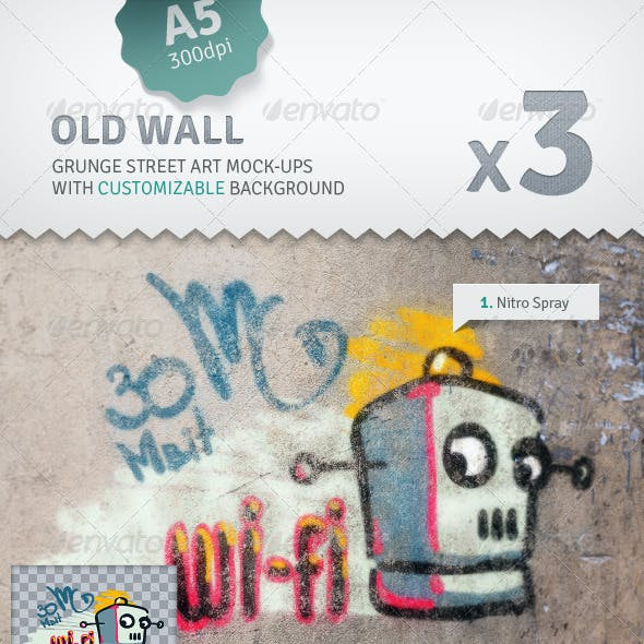 Wall - 3 Graffiti Street Art Mockups