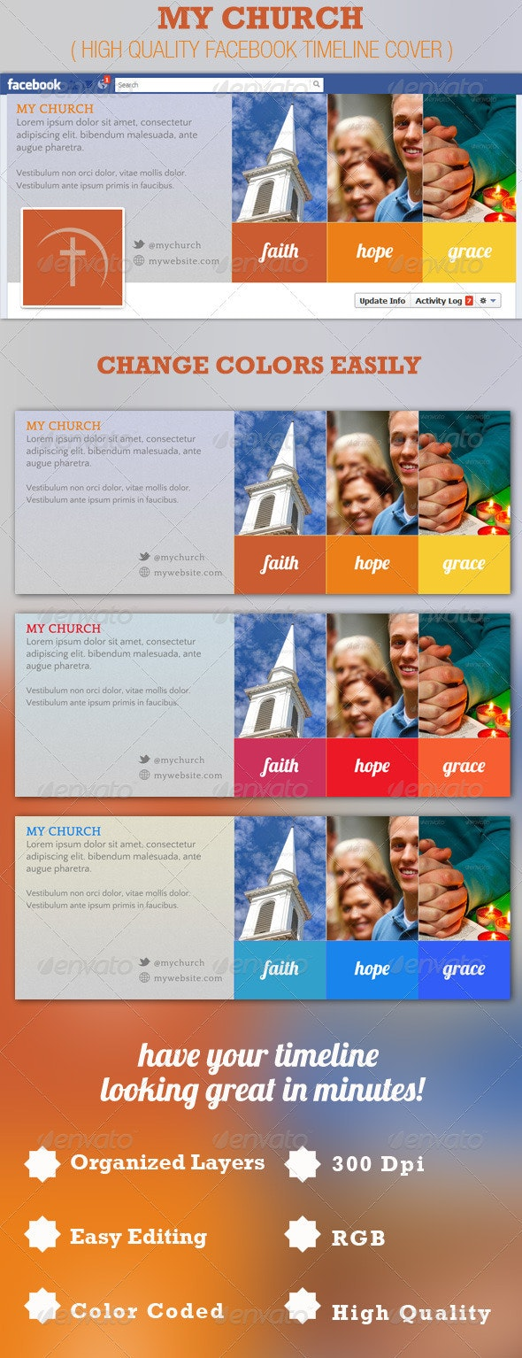 My Church Facebook Timeline Cover Template