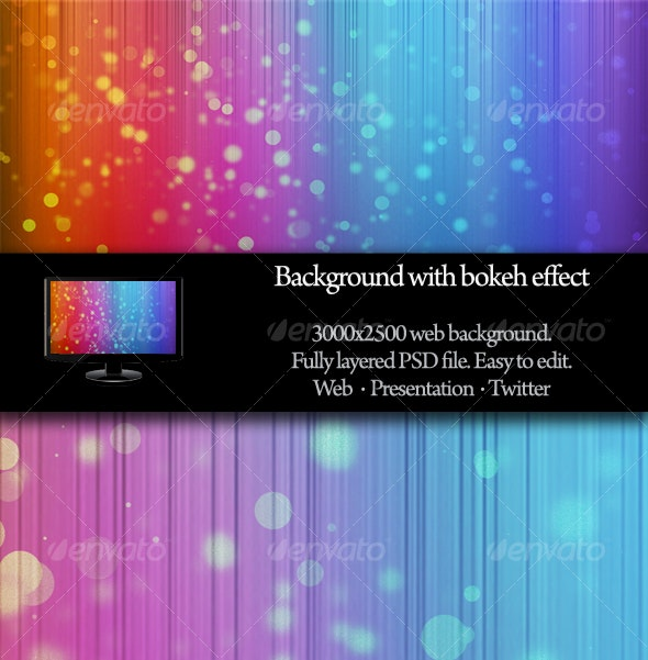 Background with bokeh effect - Abstract Backgrounds