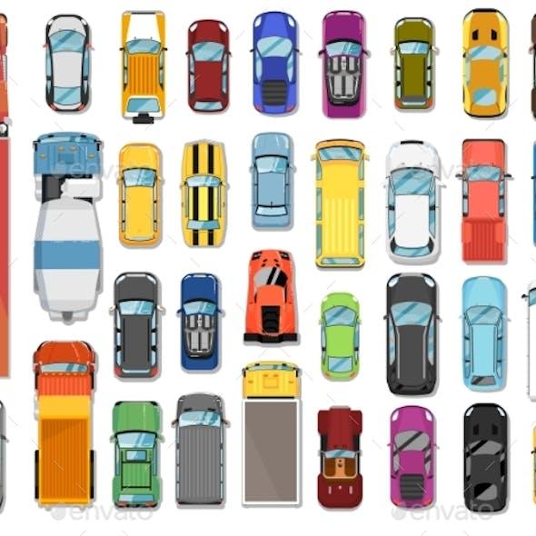Trucks and Cars
