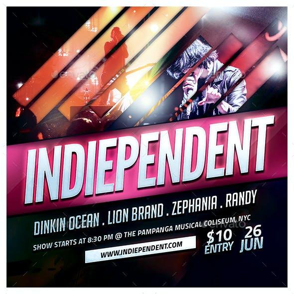 Indiependent Flyer