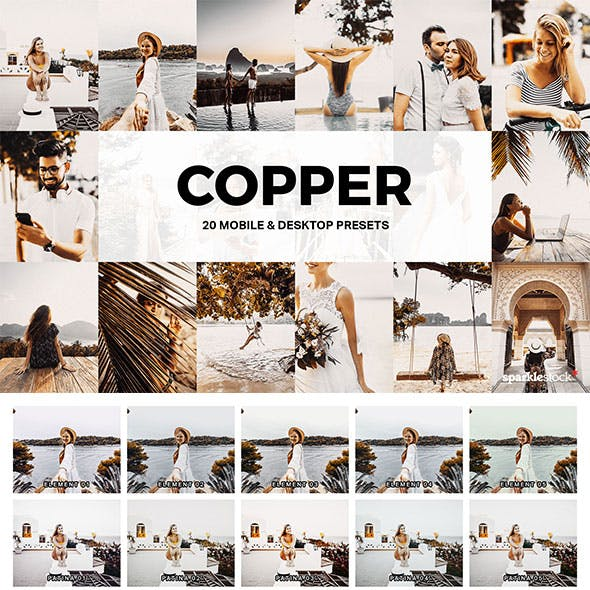 20 Copper Lightroom Presets and LUTs