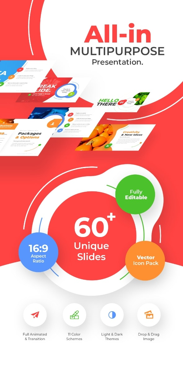 All In Multipurpose Powerpoint Presentation Template Fully Animated - Abstract PowerPoint Templates