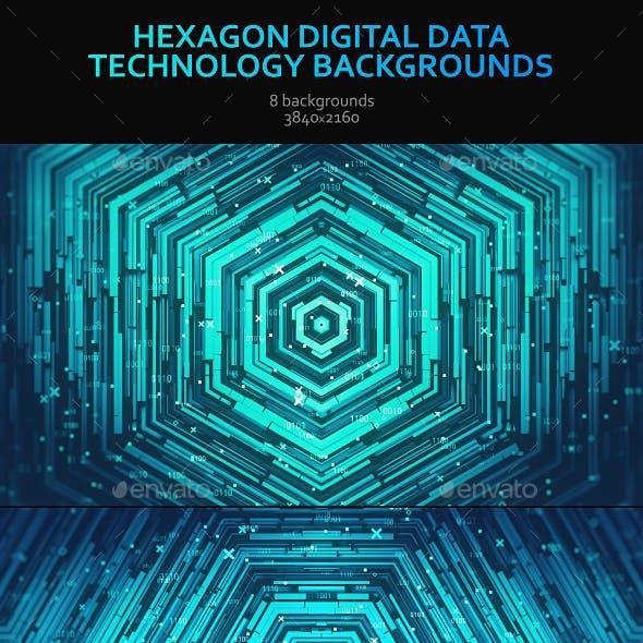Hexagon Digital Data Technology Backgrounds