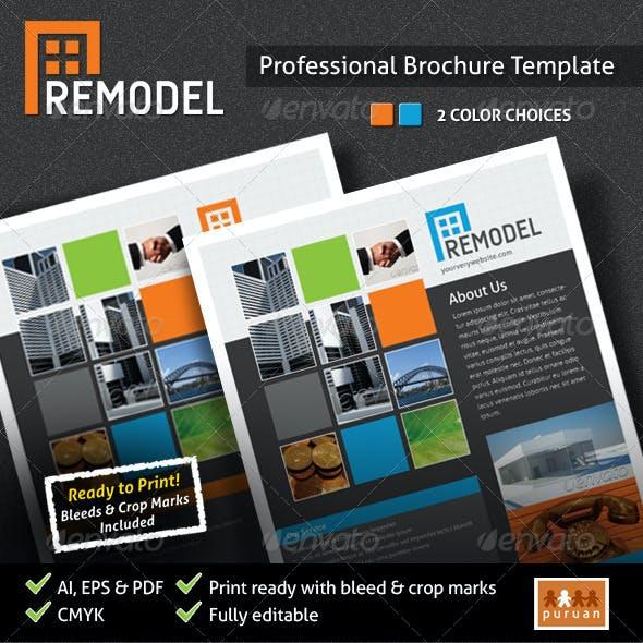 Remodel Brochure Template