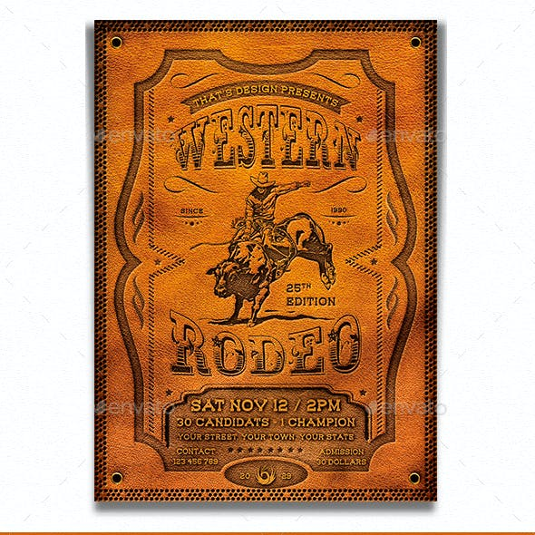 Western Rodeo Flyer Template V1
