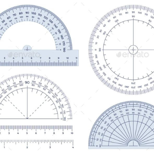 Protractor Angles Measuring Tools