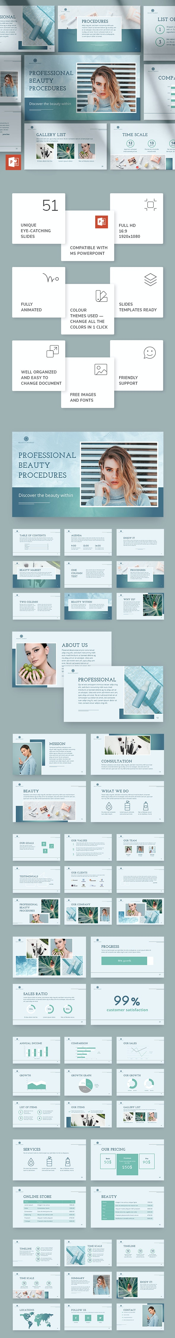 Beauty Market PowerPoint Presentation Template - Miscellaneous PowerPoint Templates